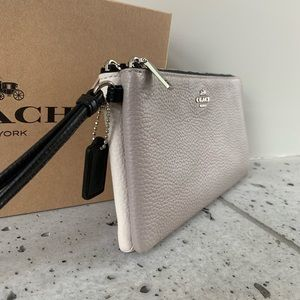 NWT COACH DOUBLE ZIP WALLET